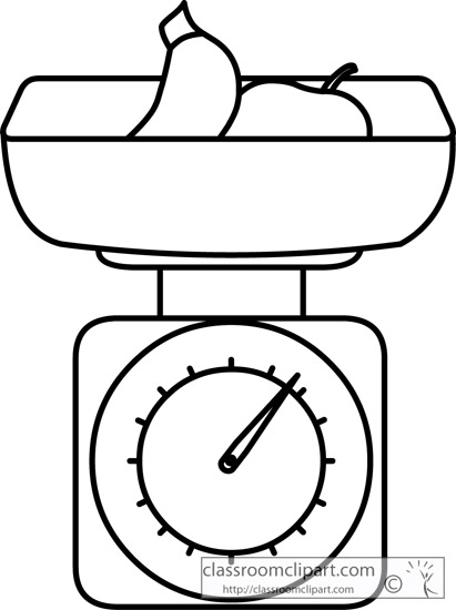 Food   Food Scale 213 Outline   Classroom Clipart