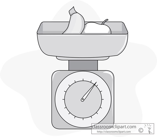 Food Gray And White Clipart  Food Scale 213 Gray   Classroom Clipart