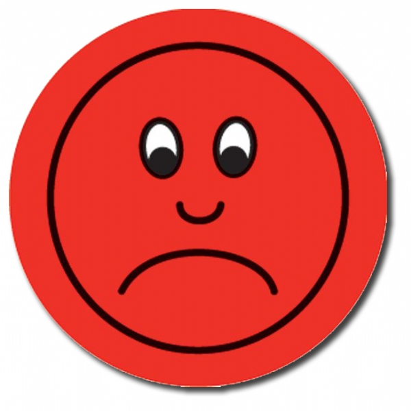Red Sad Face Clipart - Clipart Kid