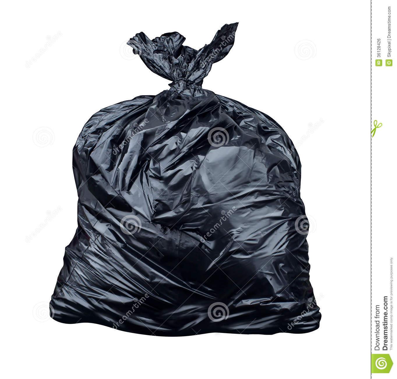 Garbage Bag Isolated On A White Background As A Symbol Of Waste