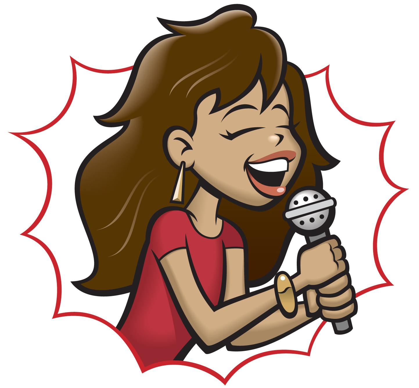 Girl Singer Clipart - Clipart Kid
