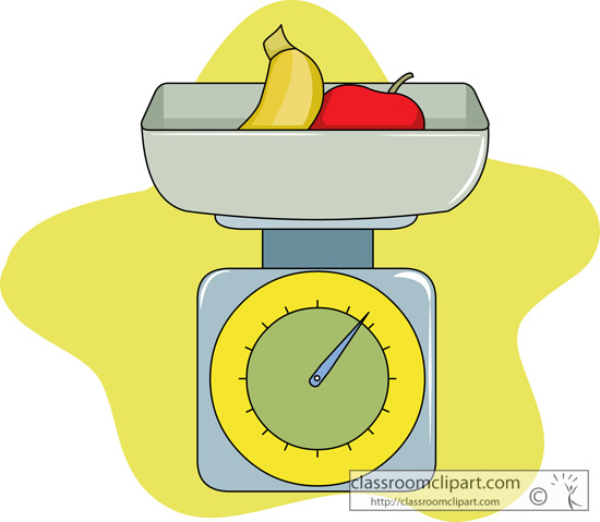 Kitchen   Food Scale 213   Classroom Clipart