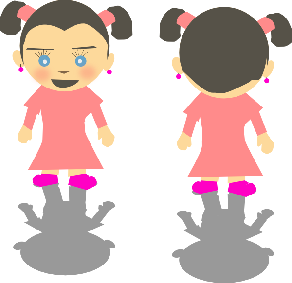 Little Kid Girl Cartoon Clip Art At Clker Com   Vector Clip Art Online