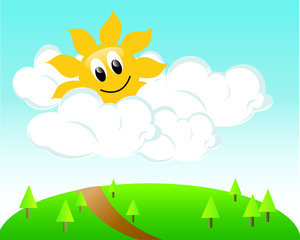 Partly Sunny Clipart Image