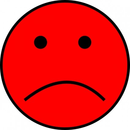 Red Frowny Face Clip Art   Free Cliparts That You Can Download To