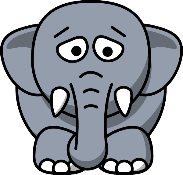 Sad Elephant Clip Art At Clker Com   Vector Clip Art Online Royalty