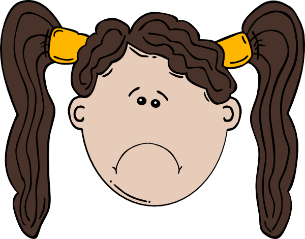 Sad Girl Clip Art At Clker Com   Vector Clip Art Online Royalty Free