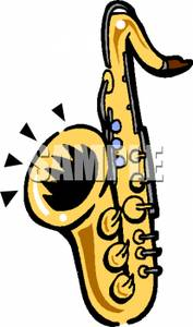 Saxophone Playing Music   Royalty Free Clipart Picture