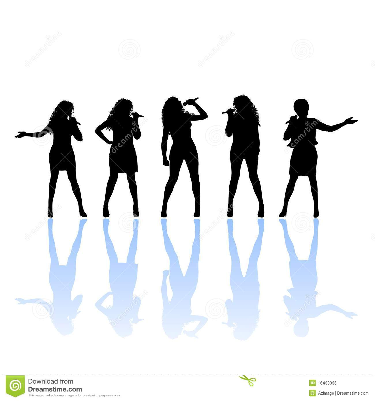 Silhouette Of Female Singer Royalty Free Stock Image   Image  16433036