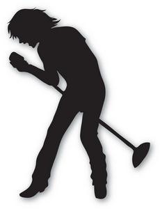 Singer Clipart Image   The Silhouette Of A Male Singer