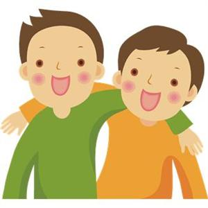 Two Friends Clip Art