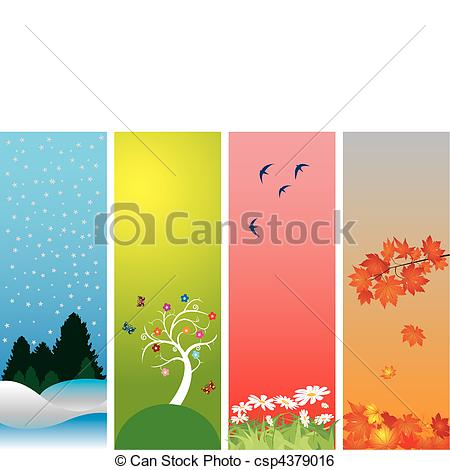 Vector   Four Seasons   Stock Illustration Royalty Free Illustrations