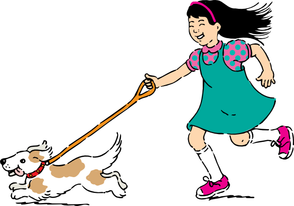 Walking Dog Clip Art At Clker Com   Vector Clip Art Online Royalty