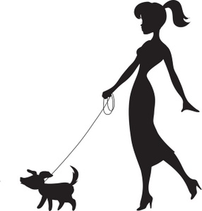 Walking The Dog Clip Art Images Walking The Dog Stock Photos   Clipart