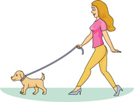 Girl with Dog Clip Art – Cliparts
