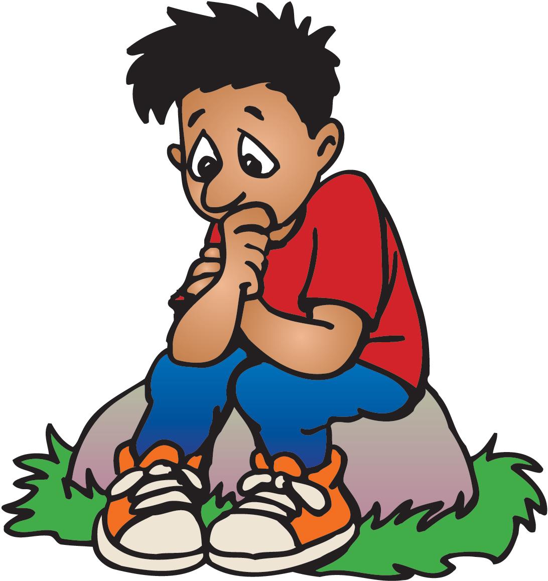 Worried Cartoon Boy Clipart - Clipart Kid