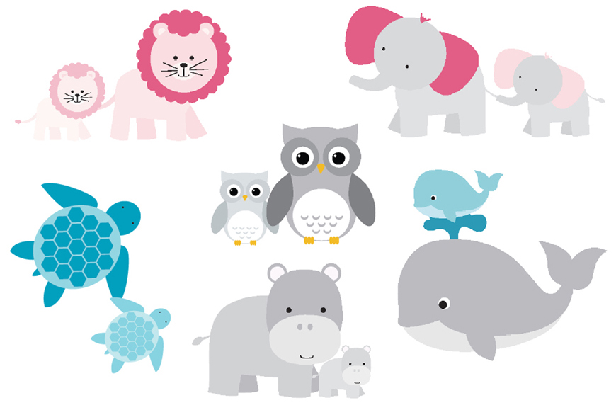 Mom And Baby Animal Clipart - Clipart Kid
