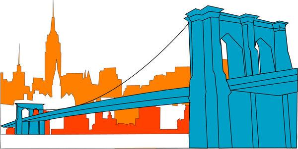 Brooklyn Bridge Clipart - Clipart Kid