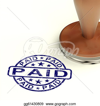 Clip Art   Paid Stamp Shows Bill Or Invoice Payment Confirmation
