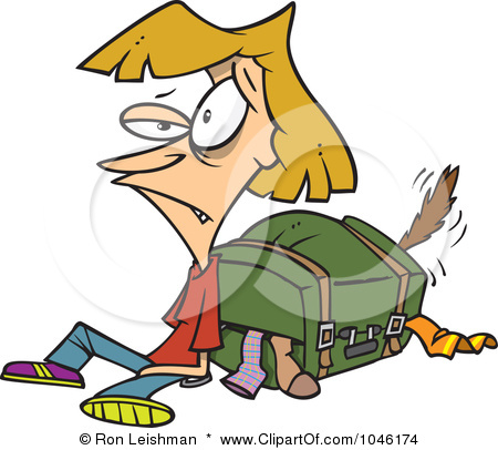 Packing Holiday Art Clipart - Clipart Suggest Packing Luggage Clipart