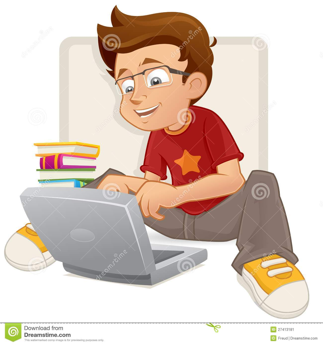 Smart Boy Clipart - Clipart Kid