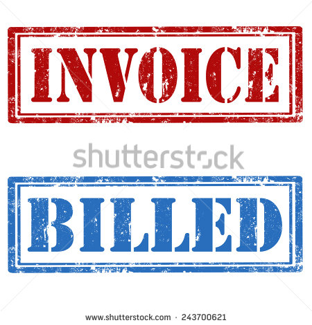 Grunge Rubber Stamps With Text Invoice And Billedvector Illustration