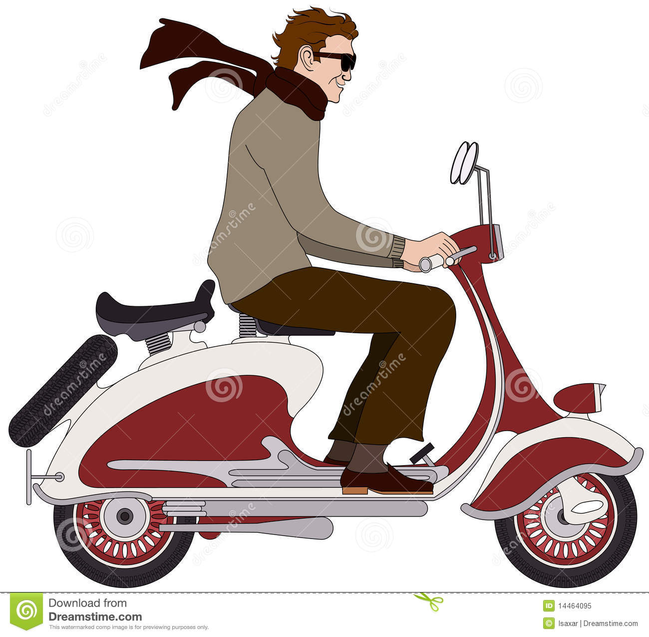 Italian Boy On A Scooter Royalty Free Stock Photo   Image  14464095