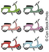 Italian Scooter Vector Clipart Royalty Free  149 Italian Scooter Clip