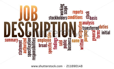 Job Description In Word Collage   Stock Photo