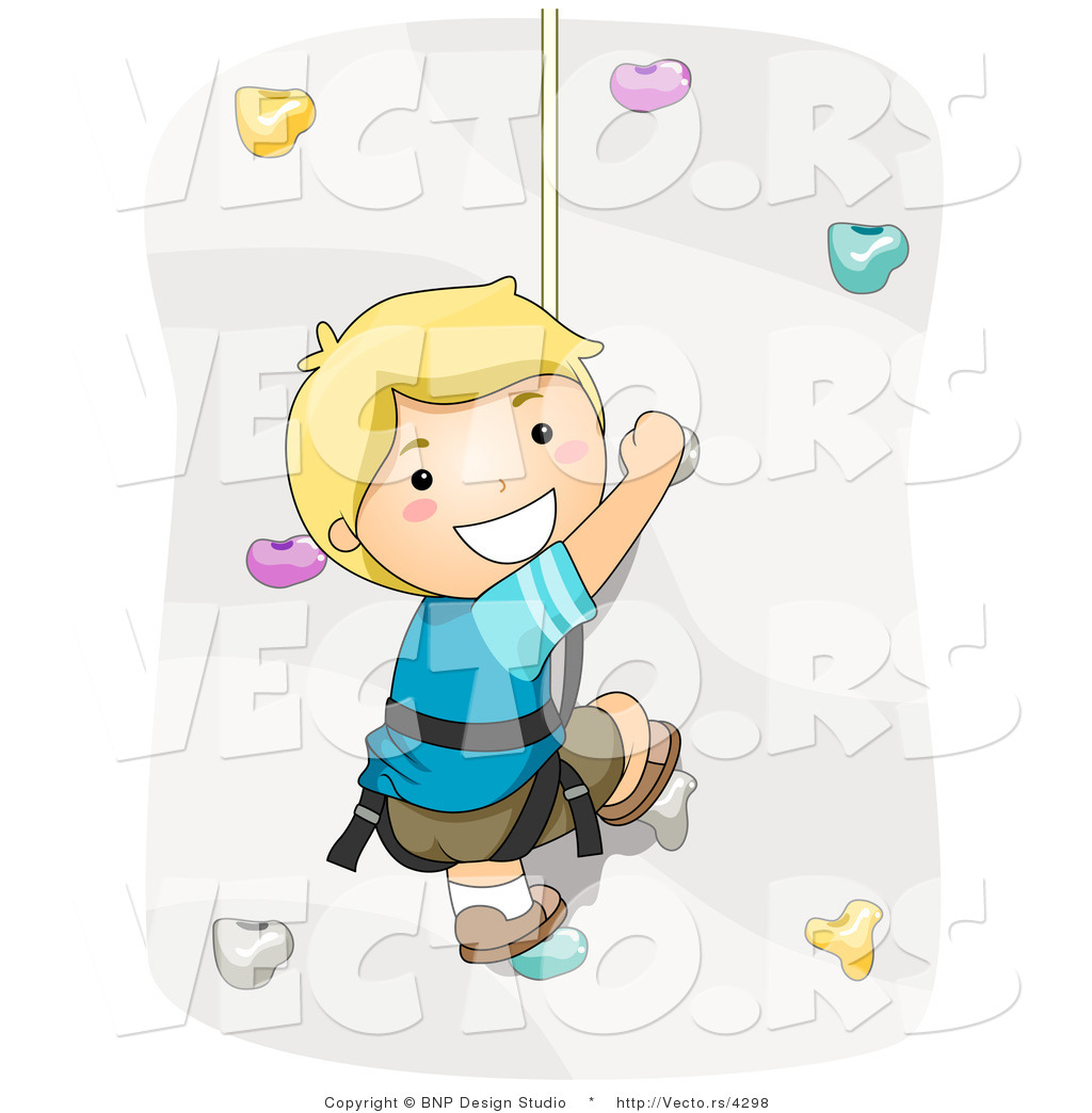 Larger Preview  Vector Of Happy Rock Climbing By Bnp Design Studio