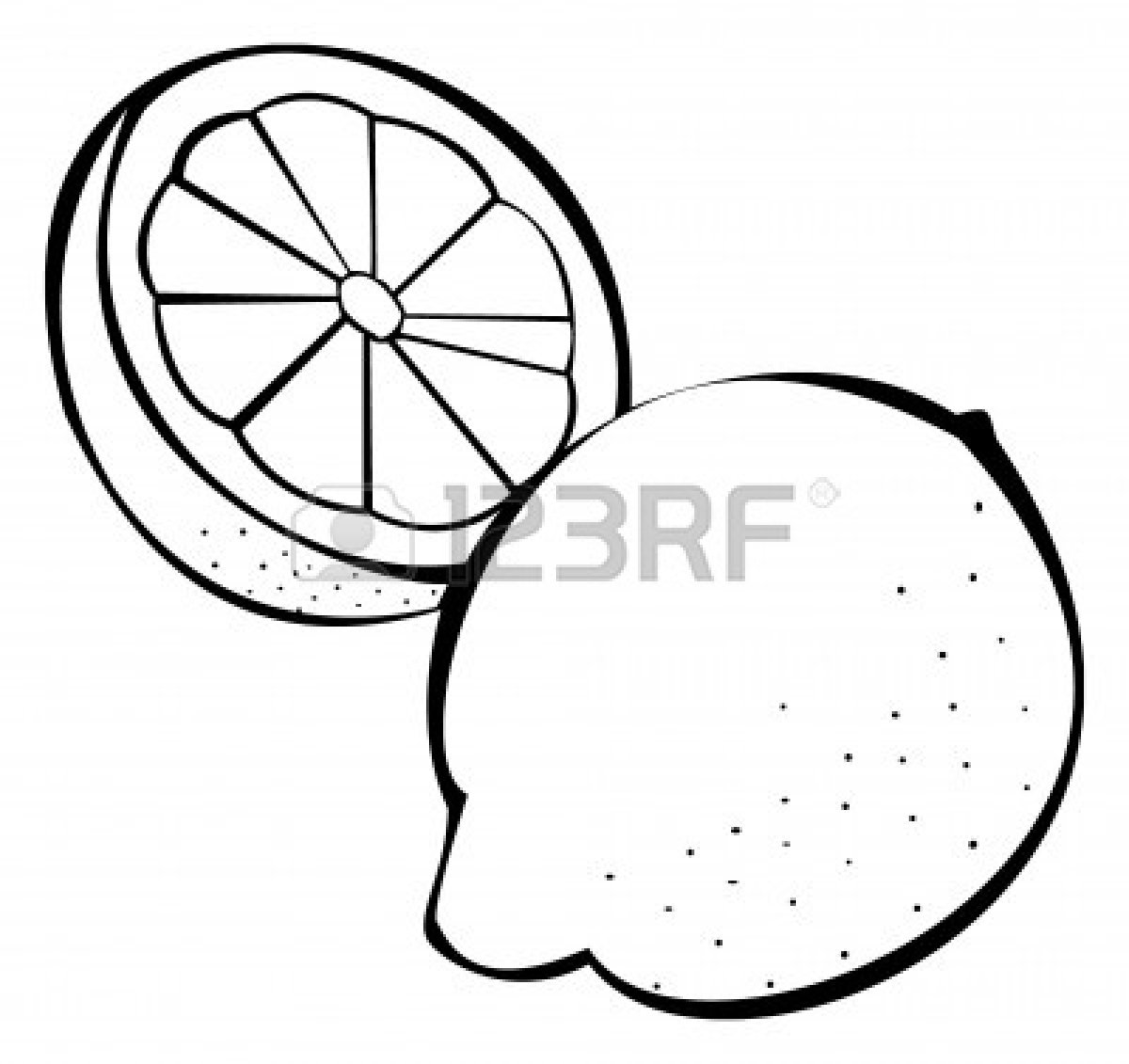 Lemon Clip Art Black And White   Web Download Gambar