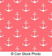 Nautical Pattern Vector Clipart Illustrations  2372 Nautical Pattern