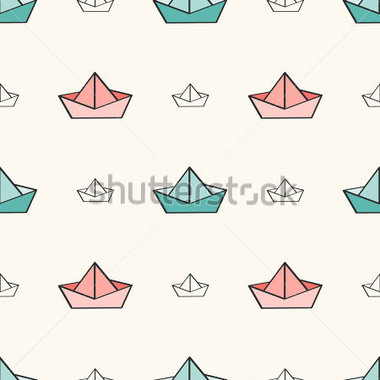 Nautical Pattern With Paper Boats  Can Be Used For Wallpaper Pattern