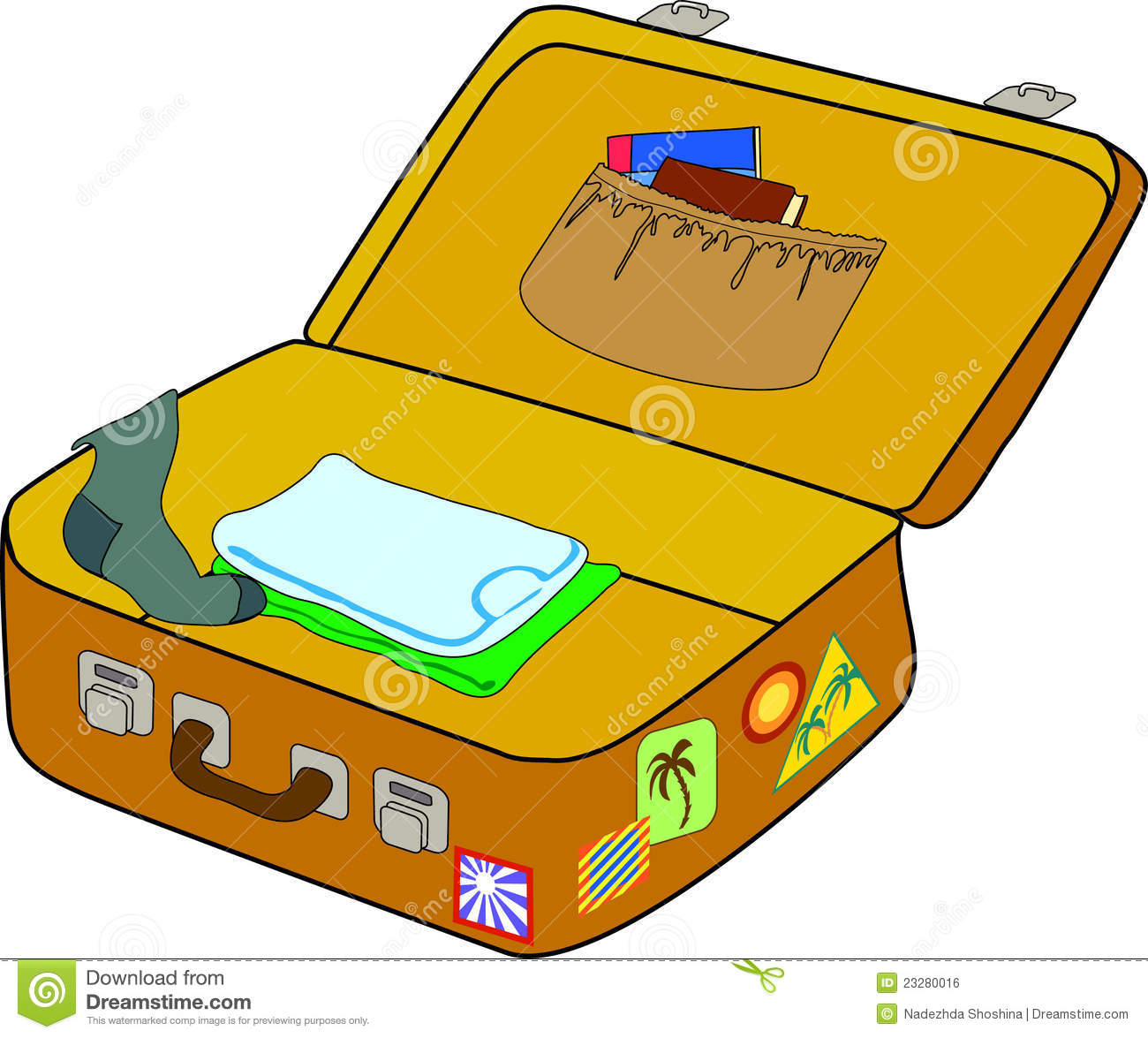 Packing Suitcase Clipart - Clipart Suggest Packing Luggage Clipart