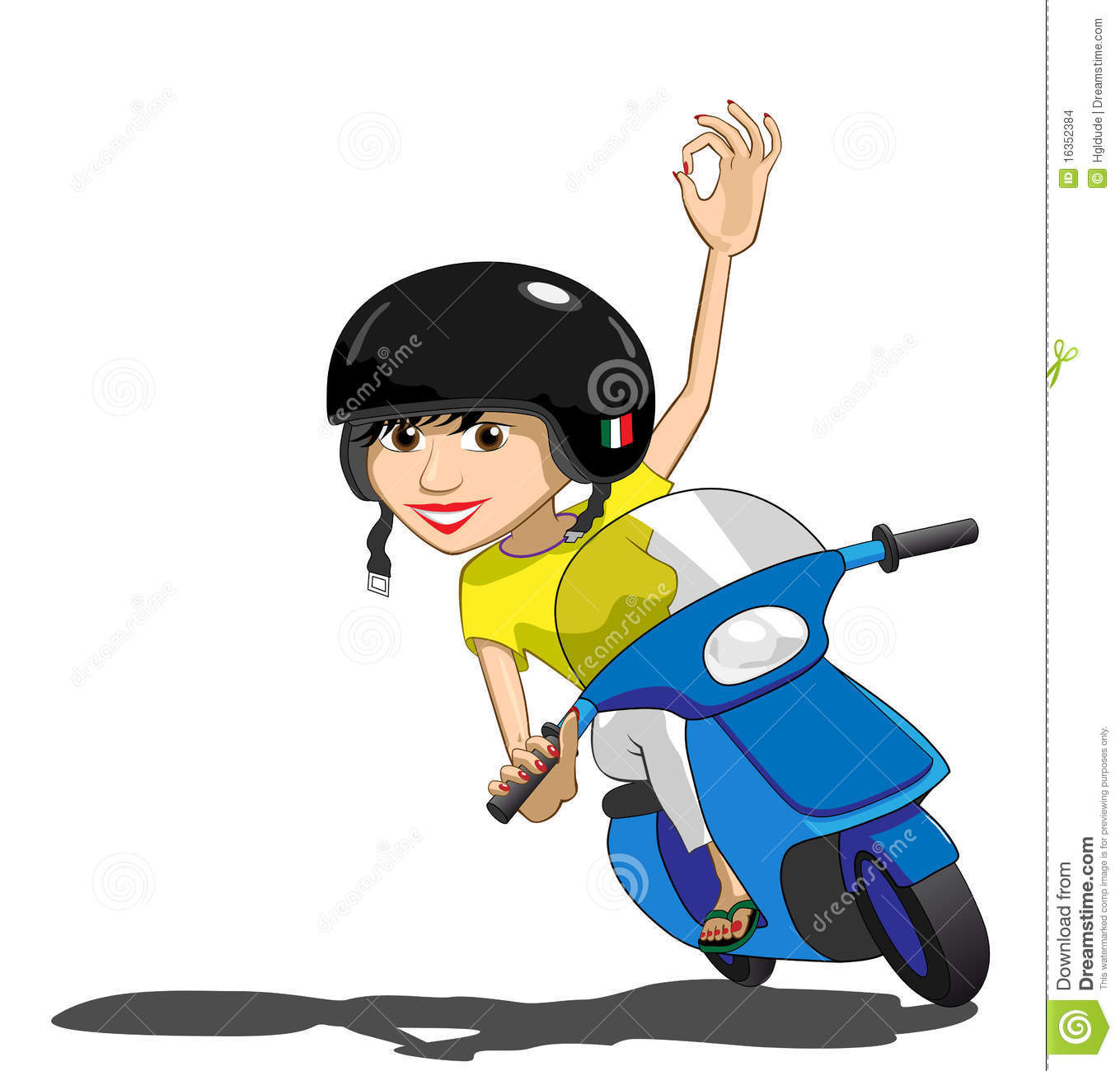 Pretty Italian Scooter Girl Stock Images   Image  16352384