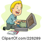 Packing Suitcase Clipart - Clipart Kid Packing Luggage Clipart