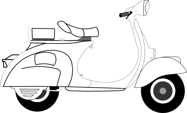 Scooter Clip Art At Clker Com   Vector Clip Art Online Royalty Free