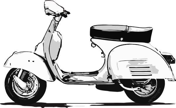 Scooter Clip Art   Vector Clip Art Online Royalty Free   Public
