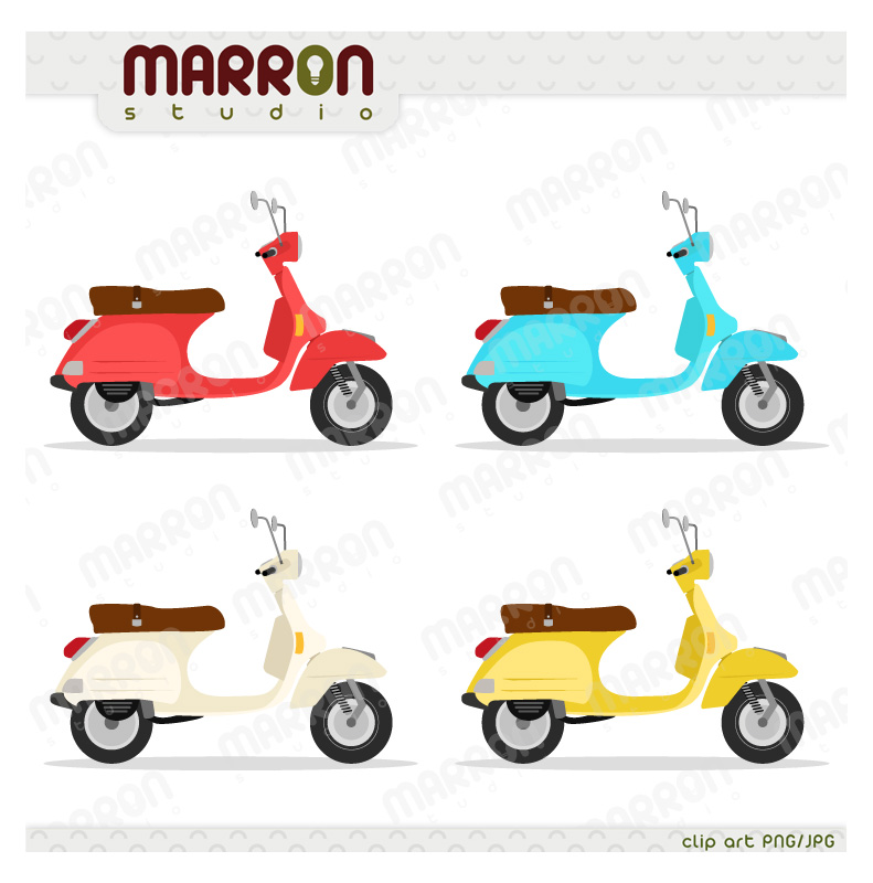 Italian Scooter Clipart - Clipart Suggest