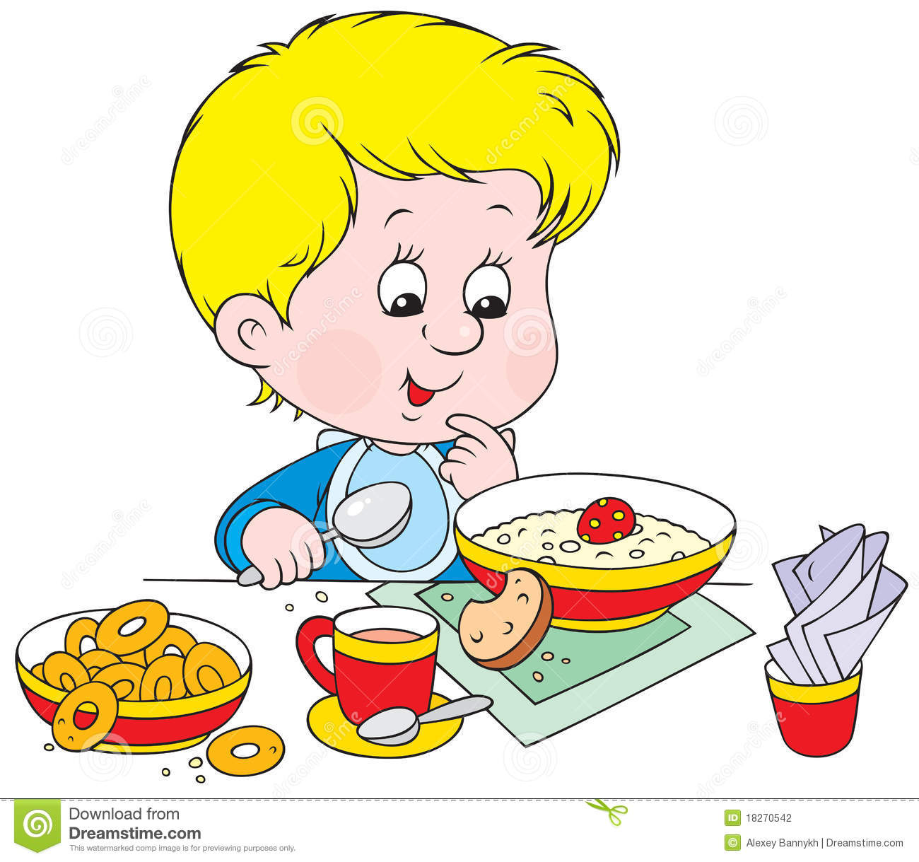 Boy At Breakfast Stock Photography   Image  18270542