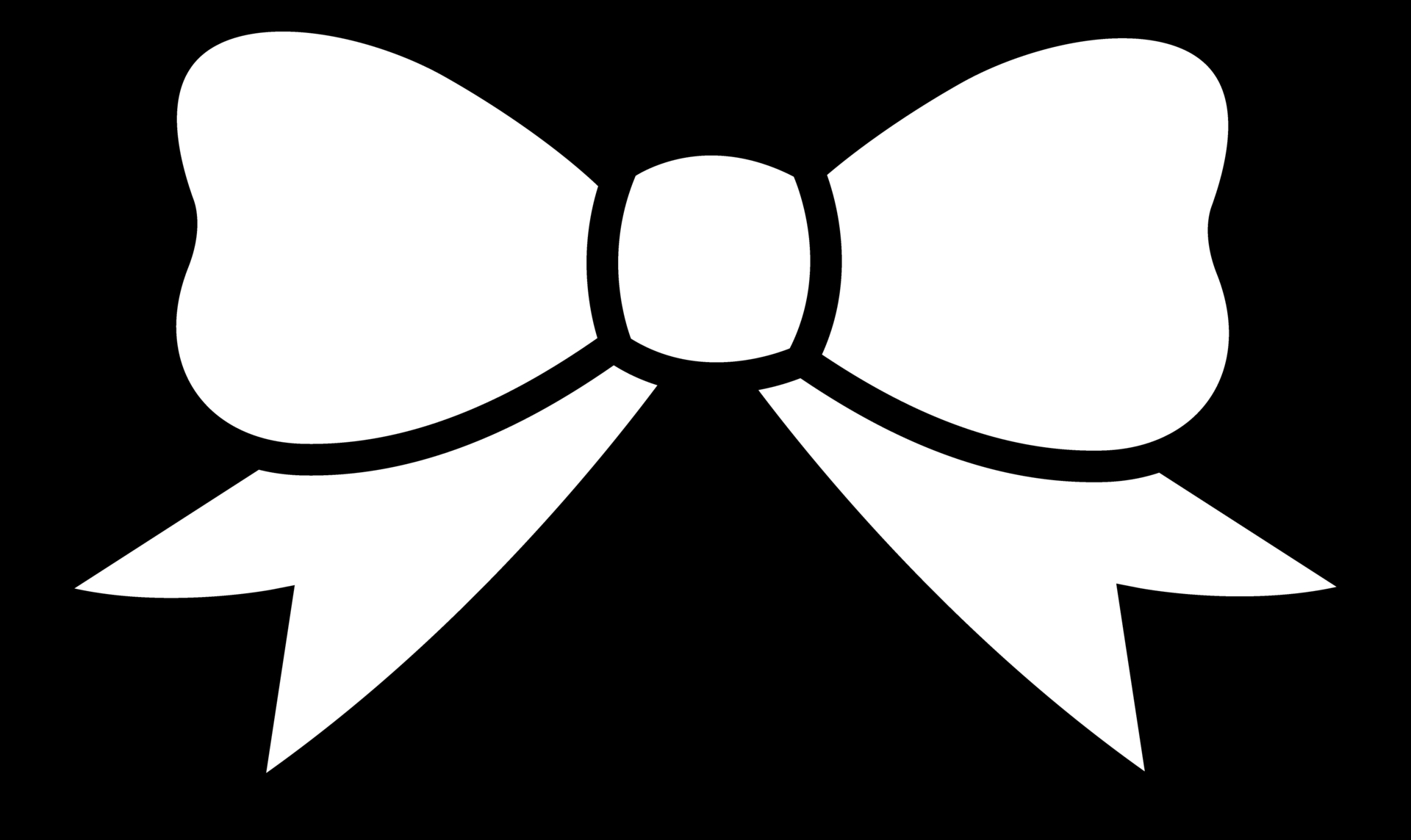 Hair Bow Clip Art Black And White Bow Clipart