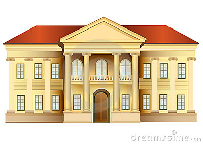 Mansion With Columns Vector Stock Photos   Image  10390803