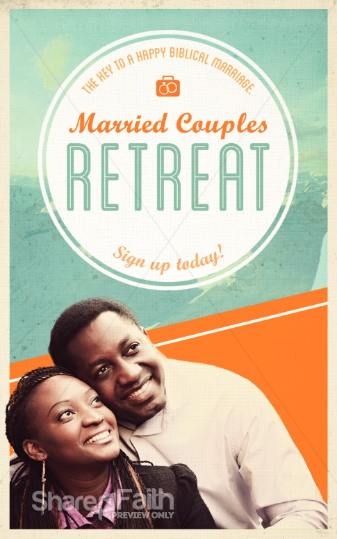 Marriage Retreat Church Bulletin   Sermon Bulletin Covers