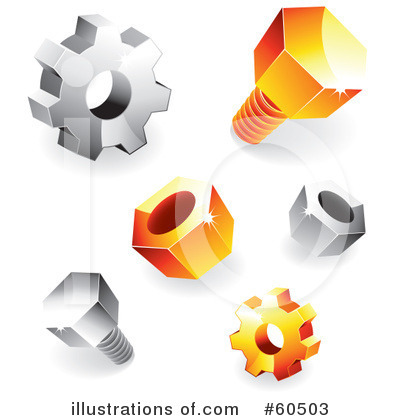 Royalty Free  Rf  Bolts Clipart Illustration By Ta Images   Stock