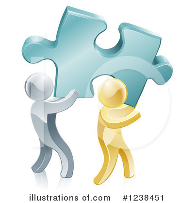 Royalty Free  Rf  Teamwork Clipart Illustration By Geo Images   Stock