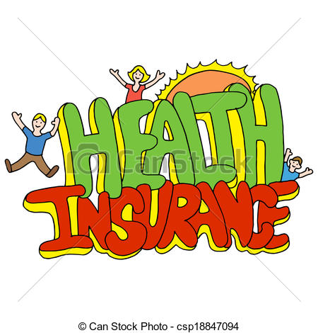 Vectors Of Health Insurance Message   An Image Of A Health Insurance
