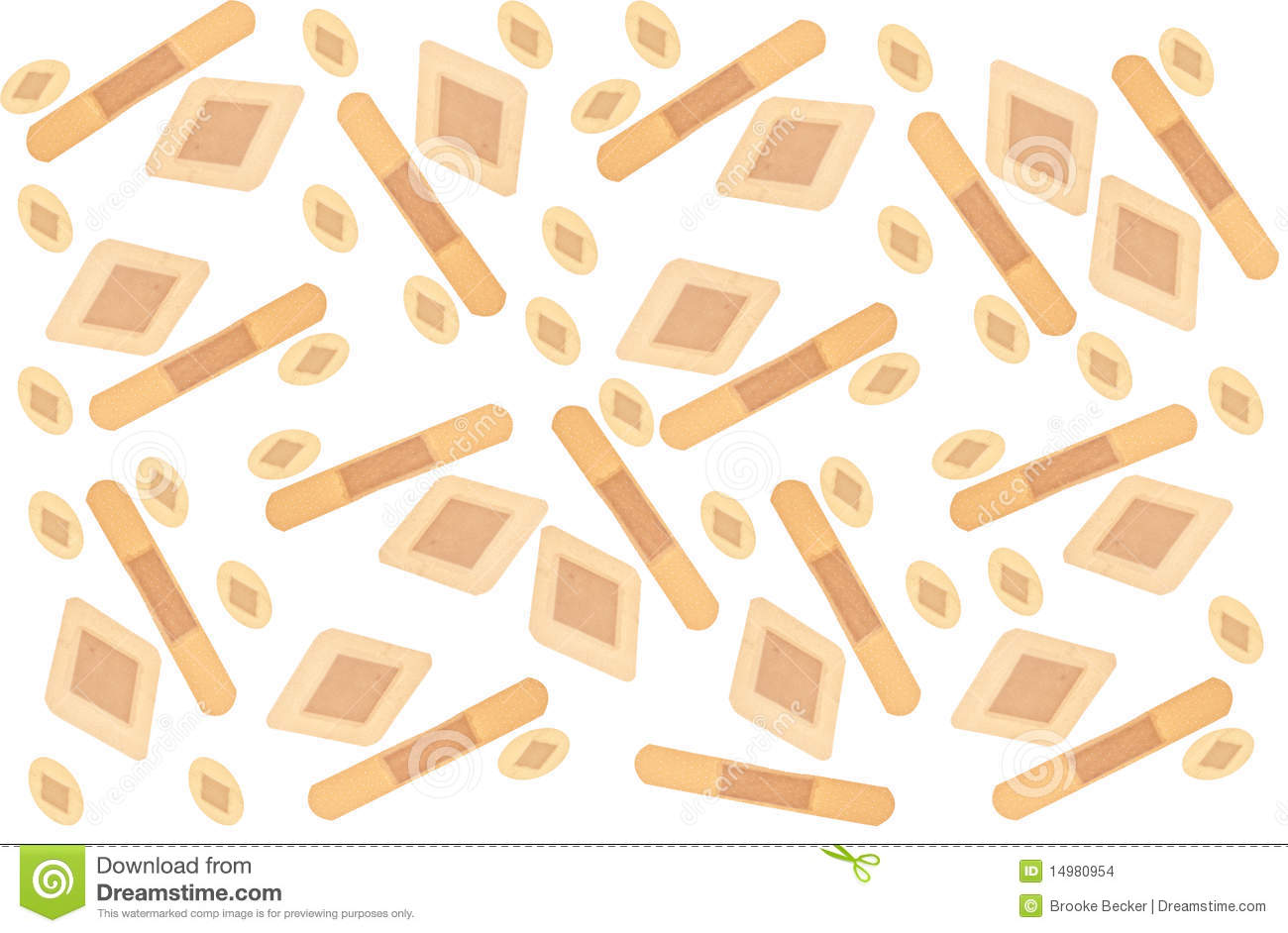 Bandaid Border Band Aid Background Stock