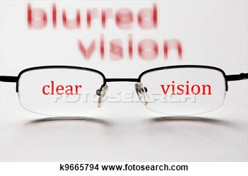 Blurred Vision And Clear Vision With Eyeglasses Concept To Test Your