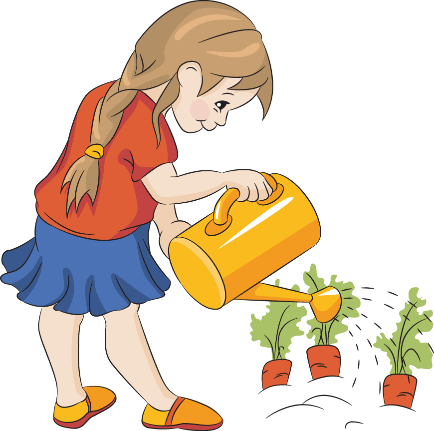 Watering Flowers Clipart - Clipart Suggest
