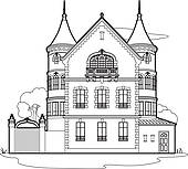 Mansion Clipart Royalty Free  2696 Mansion Clip Art Vector Eps
